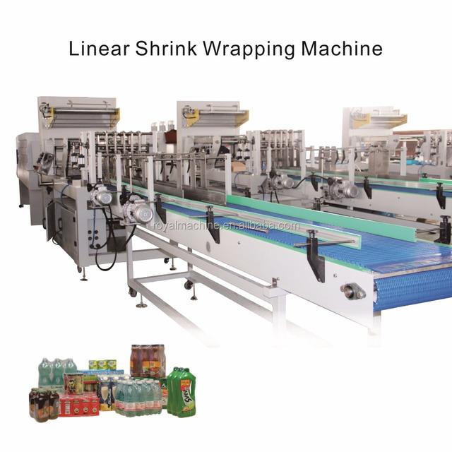 Supply thermal shrink film sleeve packaging machine