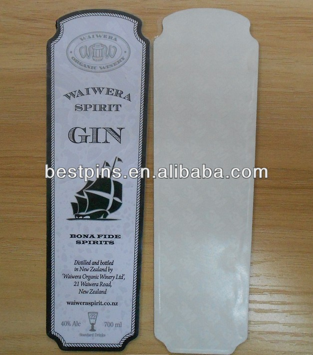 aluminum label with 3M adhensive sticker for wine bottle,beer bottle