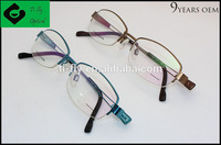 China wholesale factory price semi rimless titan spectacle frame