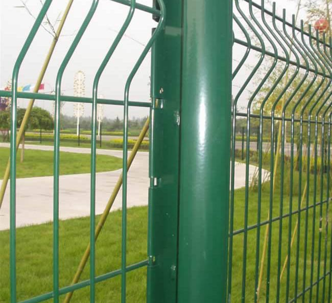 galvanized and pvc coated steel euro fence panel