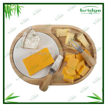 new arrival original design bamboo antibacterial quality bamboo cheese cutting board set