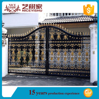2016 latest cheap price different house main gate design simple modern house steel pipe gate design