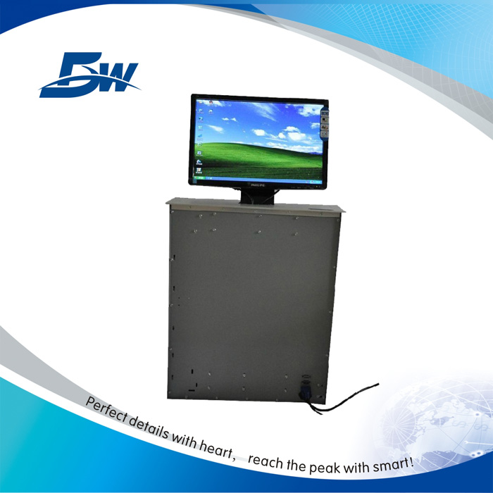 Remote Controlled Motorized Computer Screen Lift / Electric LCD Monitor Lift Up
