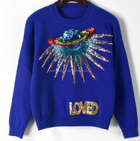 adult ladies mexican fashion handmade beaded sequin sweaters