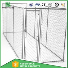 Large outdoor chain link dog kennels / iron fence dog kennel / dog kennel fence panel