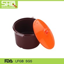 HIGH QUALITY FOOD GRADE SILICONE OVEN STEAMER SILICONE POT WITH LID