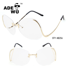 ADE WU 2016 hot sale popular style oversized sunglasses rimless sunglasses Round no frame Sunglasses
