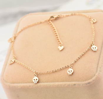 2016 New Design Gold Plated Alloy Ghost Anklets Wholesale
