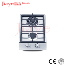 cast iron pan support double burner gas hob/gas stove top built in 2 burner gas stove cooktops