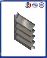 Popular Good prices window and sun shade aluminum louvers frame