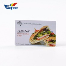 Fast-pay pvc food voucher card for professional supply pvc plastic loyalty card with discount price