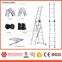 ADTO group fiberglass extension ladder,fiberglass aluminum ladder,boat boarding ladder