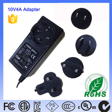 Universal hot selling 10V 4A OEM Brand Custom switching dc power adapter for LCD TV