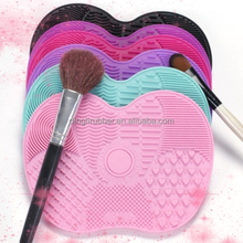 Hot Sale Small Size Silicone Makeup Brush Cleaner Cleaning Brush Mat