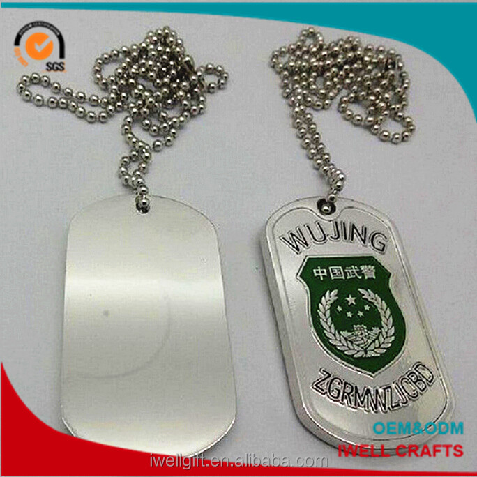OEM/ODM wholesale cool man dog tag necklace