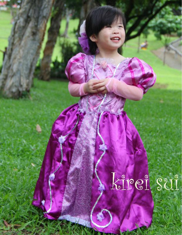 Disfraz De Princesa Para Niñas - Princesa de Rapunzel Enredados ...