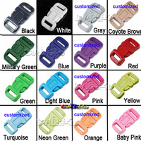 11mm Plastic Contoured Curved Side Release Buckles For Paracord Bracelet Webbing #FLC039-C(Mix-s)
