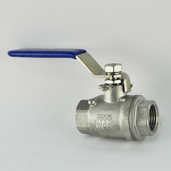 JIS ANSI stainless steel cf8m ss316 2 inch 2 pieces female threaded screwed pn16 ball valve