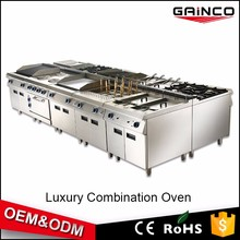 factory supply restaurant kitchen equipment gas cooker stove combination oven electric grill fryer griddle