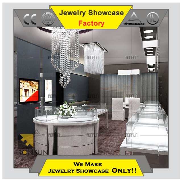 High end modern design display jewelry showcase for interior design ideas jewellery shops