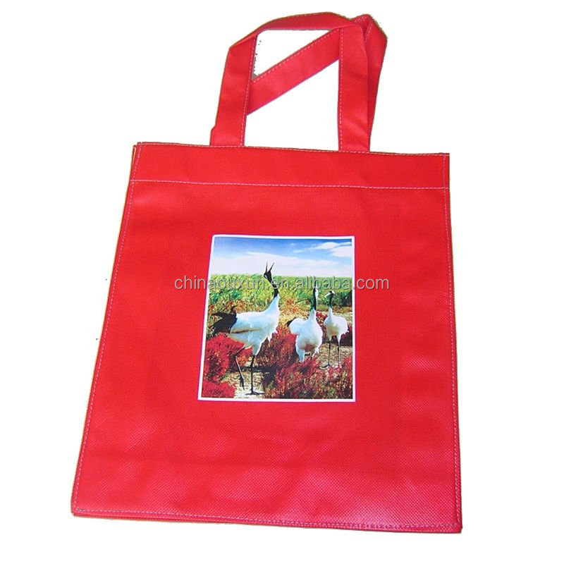 eco friendly laminated pp woven m&m's shopping bag