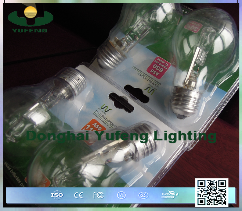 Energy saving dimmable tube a60 halogen lamp
