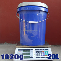20L/17L large plastic water bucket with handle