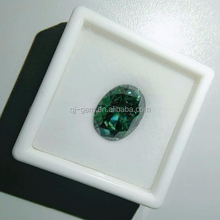 factory price round brilliant cut green color synthetic moissanite diamond