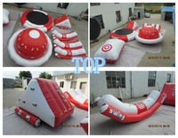 red outdoor Inflatable water park combo for sale/inflatable water sport games