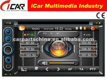 (iCar-6218)HOT Double Din 6.2'' touch screen,GPS,Bluetooth,TV,IPod car radio tv dvd