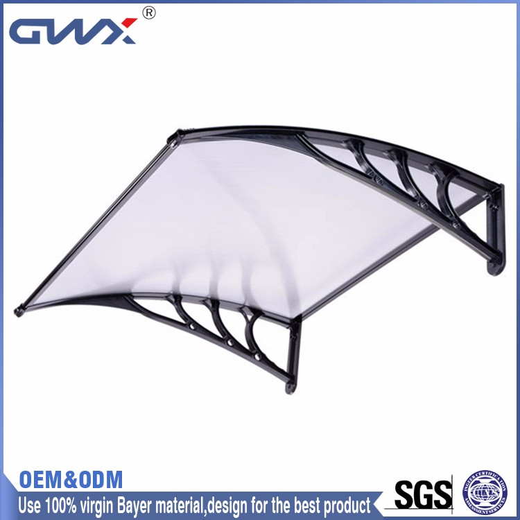 Building material polycarbonate awnings solid sheet hollow sheet PC plastic block out rain and sun aluminum window door canopy
