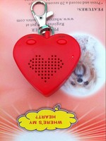 2 Buttons Heart Shaped Mini Voice Recorder Keychain With Multiple Sounds