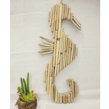 Wooden seahorse decorations driftwood seahorse