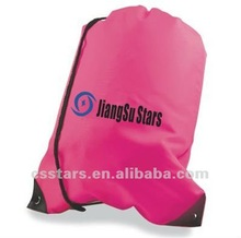 Pink Budget Drawstring Bag with 420D Nylon