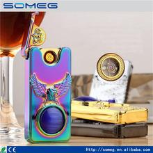 Eagle claw shell shake double-sided heat wire cigarette lighter USB rechargeable lighter ultra-thin windproof lighter
