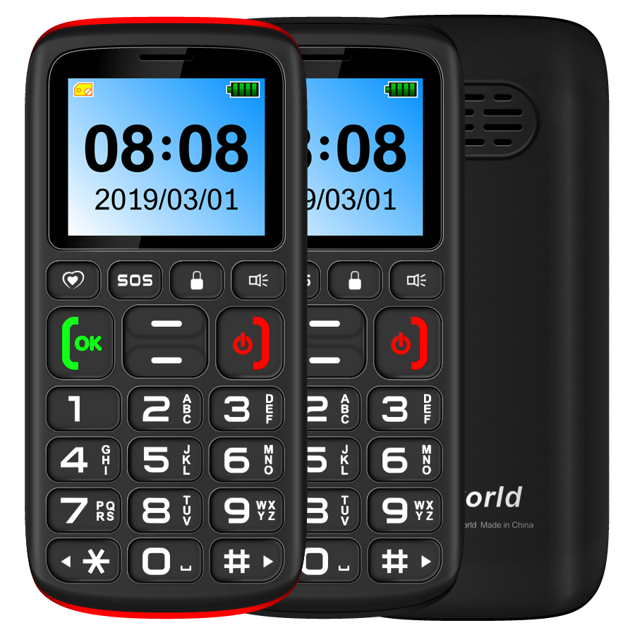 Factory Supply Mobiles VKWORLD Z3 1.77inch Elder use Mobile Phone support Voice Reporting, Incoming Call broadcast, SOS button