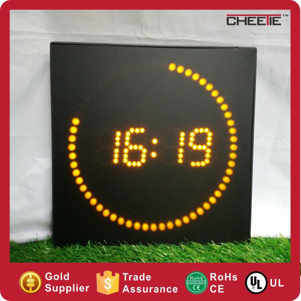 New Product Color Portable Running Dot Light Clock LED Light Wall Clock