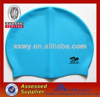 Fashionable Seepdo Quality Adult / Kid sizes customized logo printed waterproof silicone rubber swimming hat