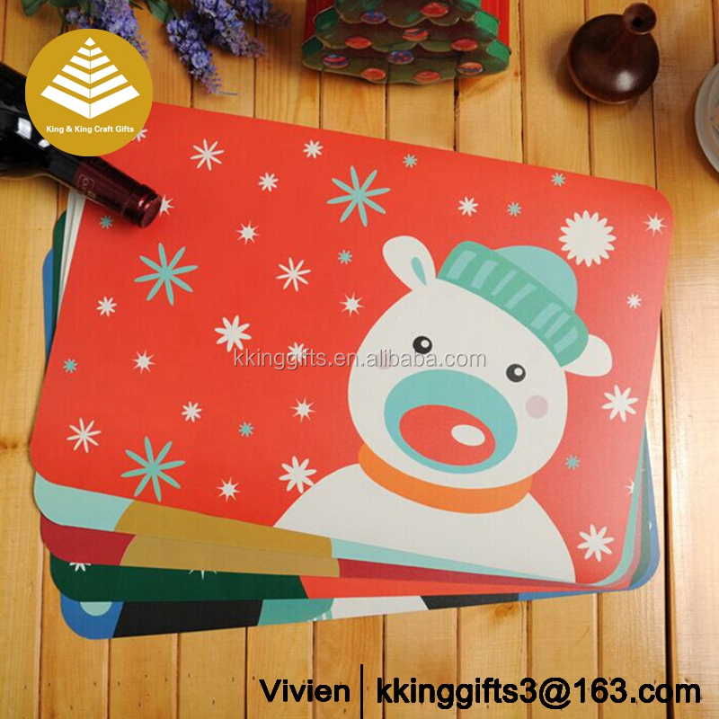 Factory wholesale round cheap recycled plastic pp table placemat/baby mat/table mat&pad