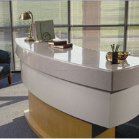 custom made reception desks/artificial stone clinic reception desk used for hospital