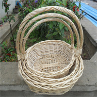 Eco-friendly cheap gifts crafts wicker crafts wicker baskets with handles hanging baskets wholesale