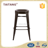 High quality luxury stainless steel metal bar stool high chair for wholesale