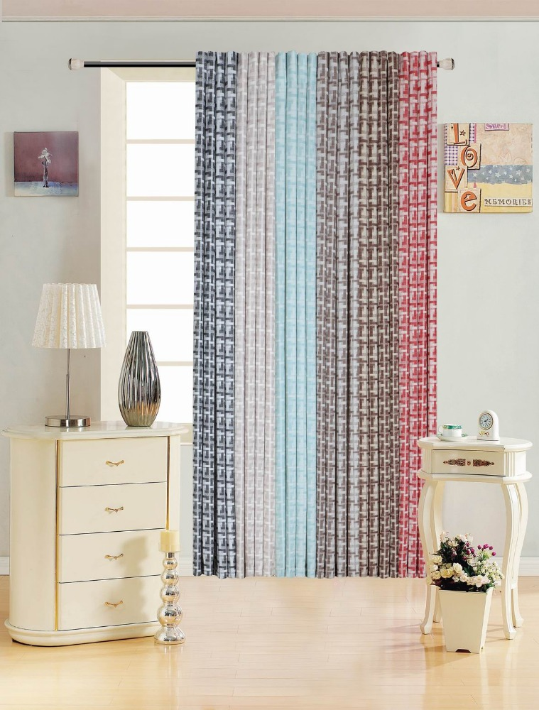 Latest Fancy Curtain Design 2017 American Style Faux Linen Bedroom Curtain