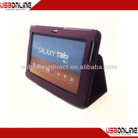 New fashion PU case for Samsung Galaxy Note 10.1 Tablet 9 colors Leather purple