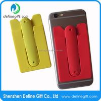 Silicone Cell Phone ID Holder Wallet Silicone Smart Phone Stand