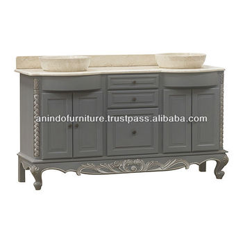 Simply Bathroom Vanity with Cream marble Top