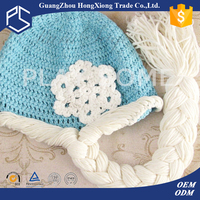 100% cotton popular winter baby crochet frozen elsa hat