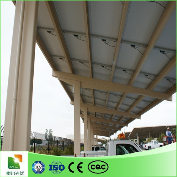 Waterproof solar Carports in solar energy system module line pv flat roof top solar mounting structure