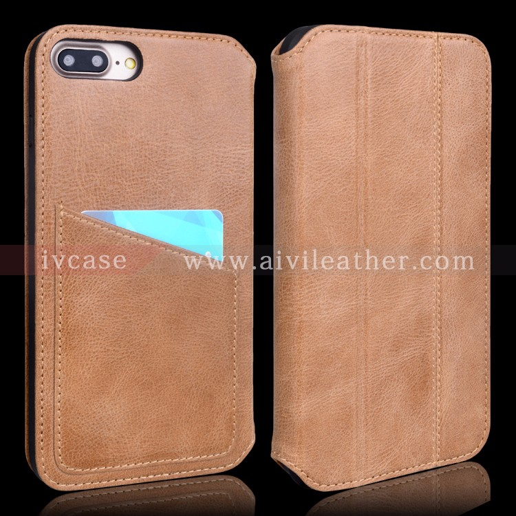 Genuine Leather New Wallet Case for Iphone 7 Plus