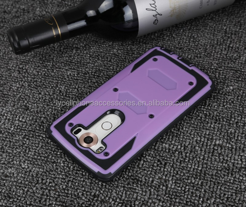 Heavy Duty Rugged Tough Dual Armor Overlay Case Shockproof Shell for LG G4 pro V10 cover